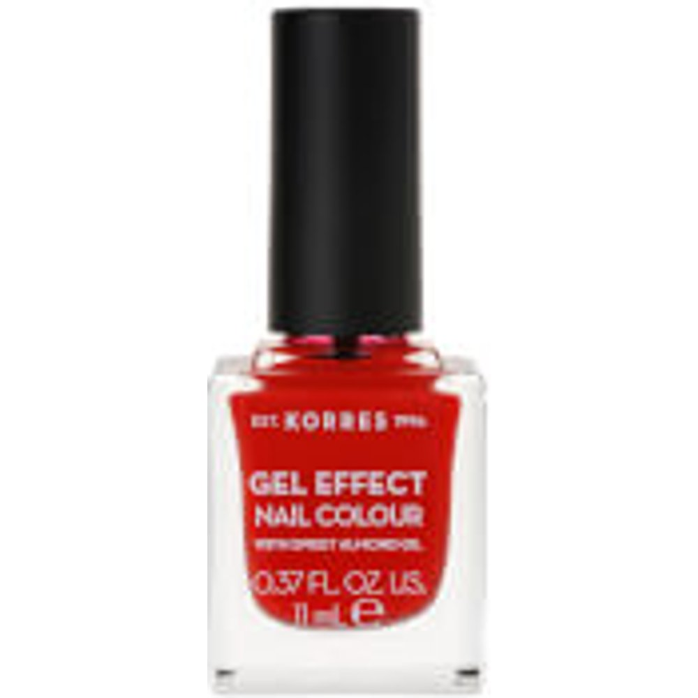 KORRES Natural Gel Effect Nail Colour - Coral Red 11ml