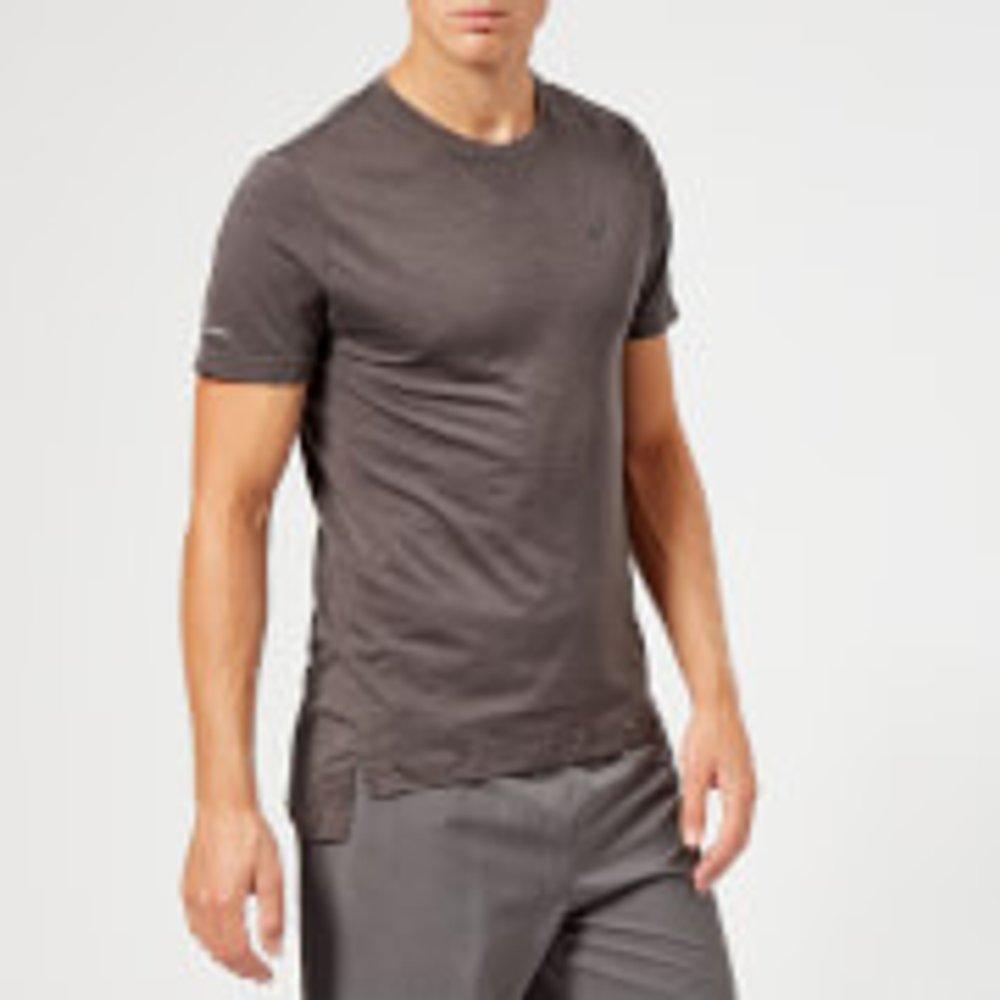 Asics Men's Seamless Short Sleeve Top - Dark Grey Heather - XL - Grey
