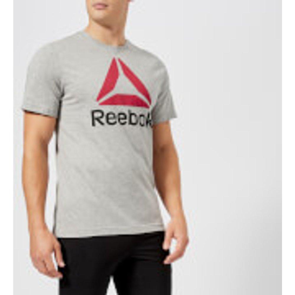 Reebok Men's Stacked Short Sleeve T-Shirt - Grey - XL - Grey