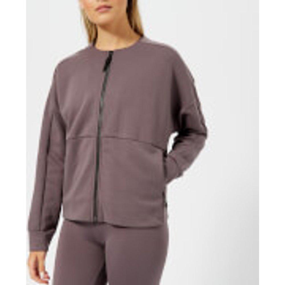 Reebok Women's Full-Zip Coverup Sweatshirt - Almost Grey - L - Grey
