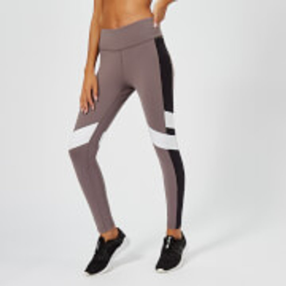 Reebok Women's Lux Colour Block Tights - Almost Grey - XS - Grey