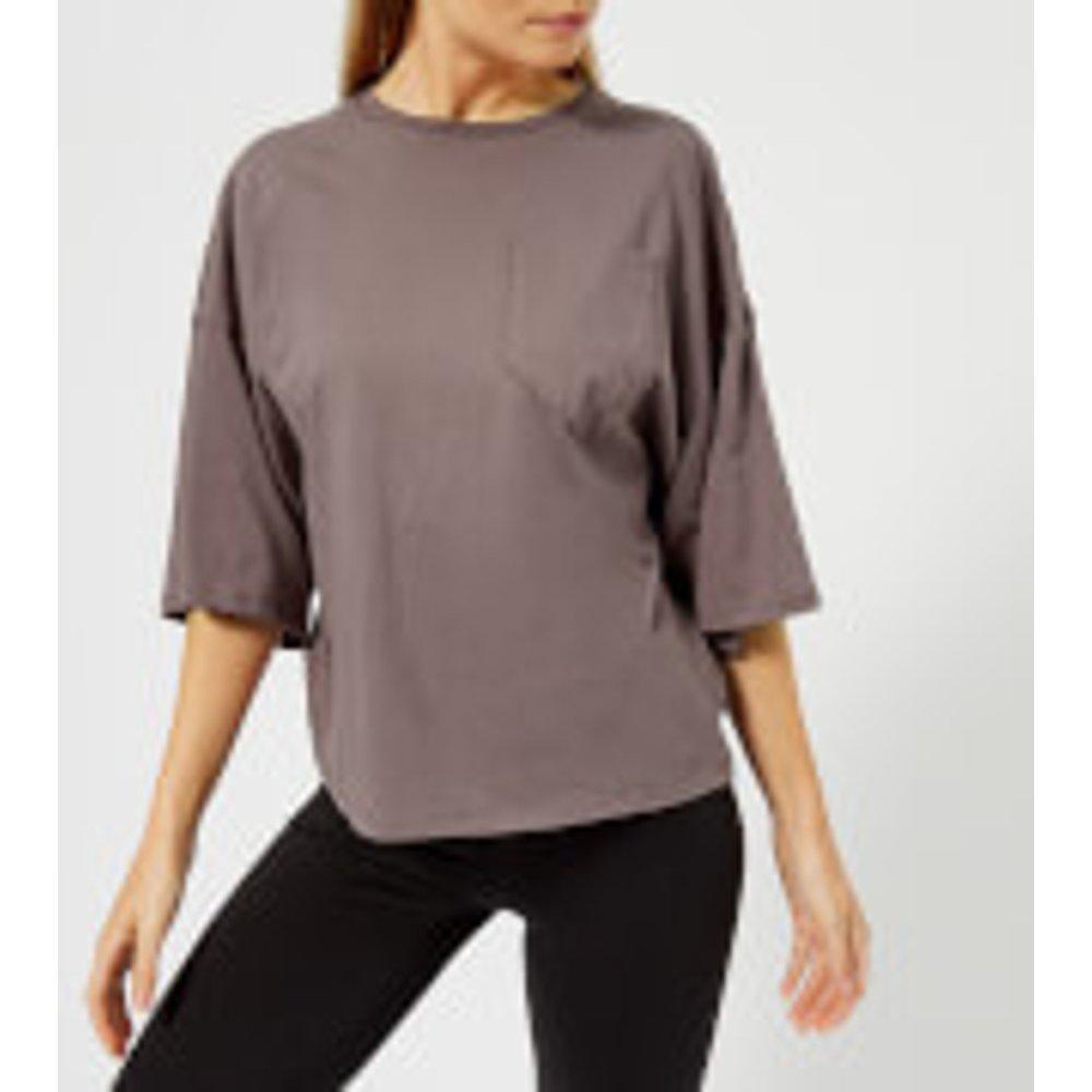 Reebok Women's Pocket Short Sleeve T-Shirt - Almost Grey - XS - Grey
