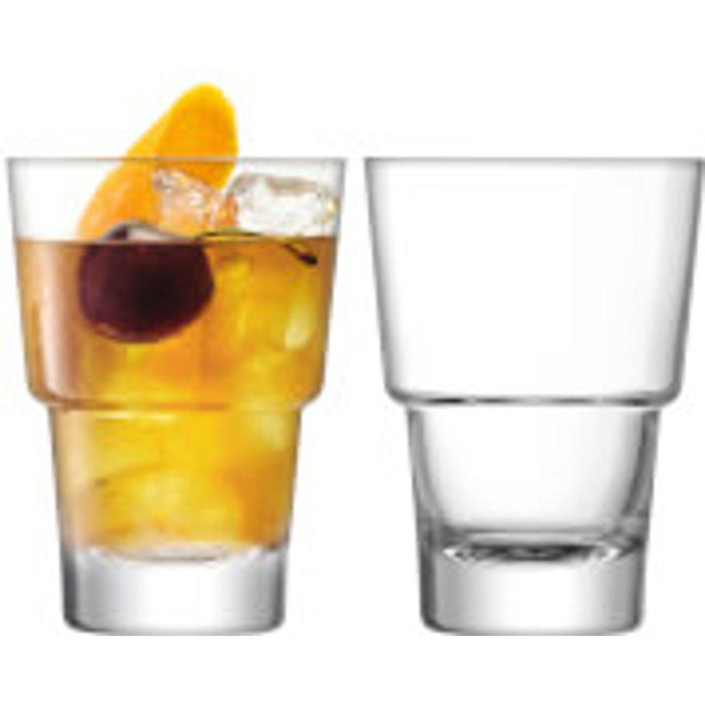 LSA International MY01 Mixologist Cocktail Tumbler 320ml Clear x 2