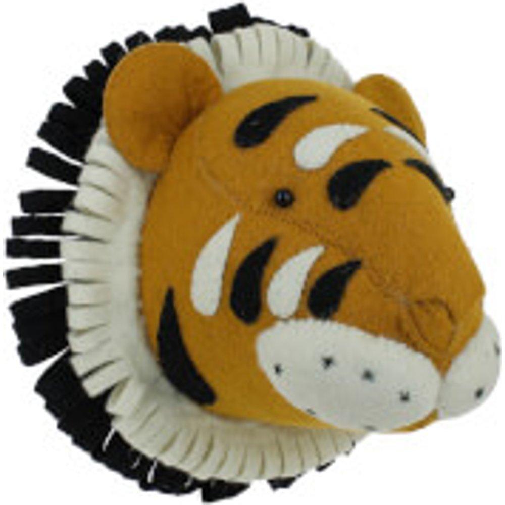 Fiona Walker England Double Ruff Tiger Wall Hanging Head