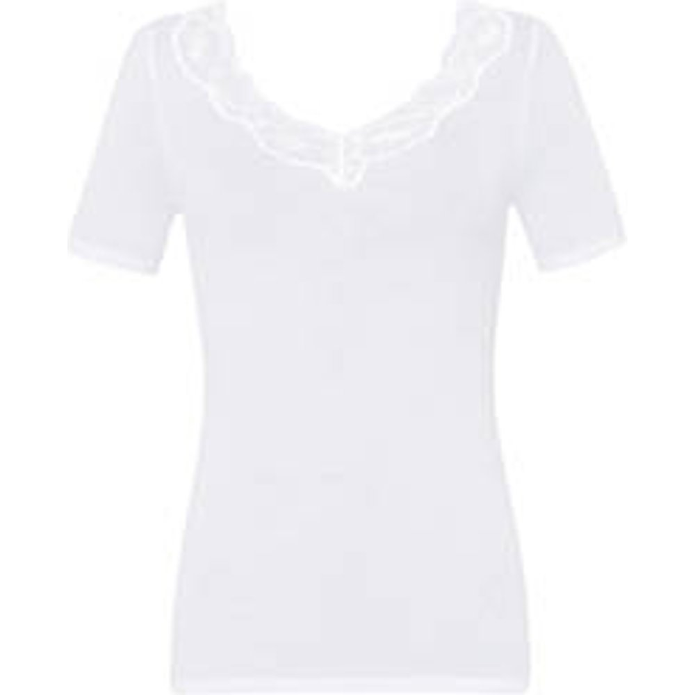 Top manches courtes en coton Lace Delight - Hanro - Modalova