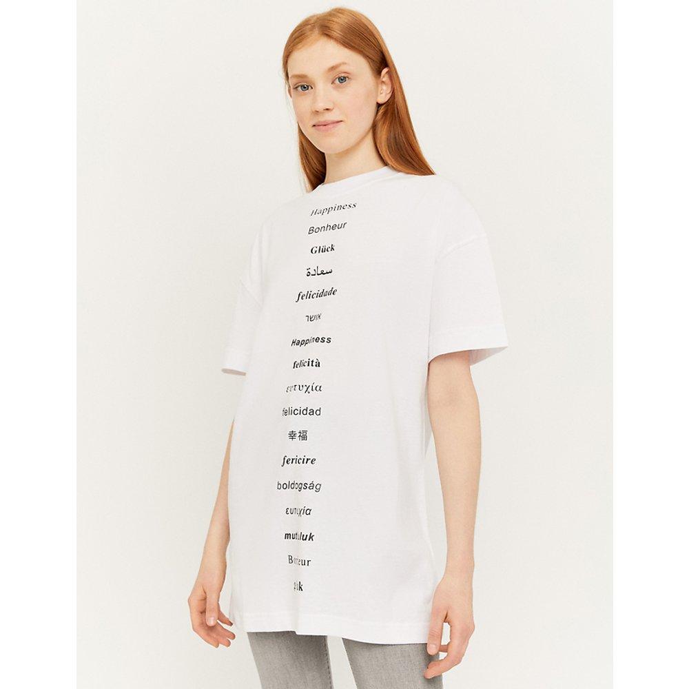 T-Shirt Long Imprimé Blanc - TW - Modalova