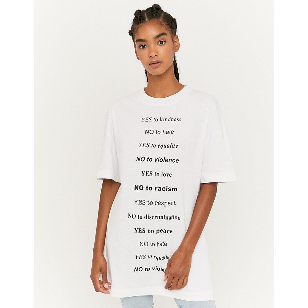 T-Shirt Long Imprimé Noir - TW - Modalova