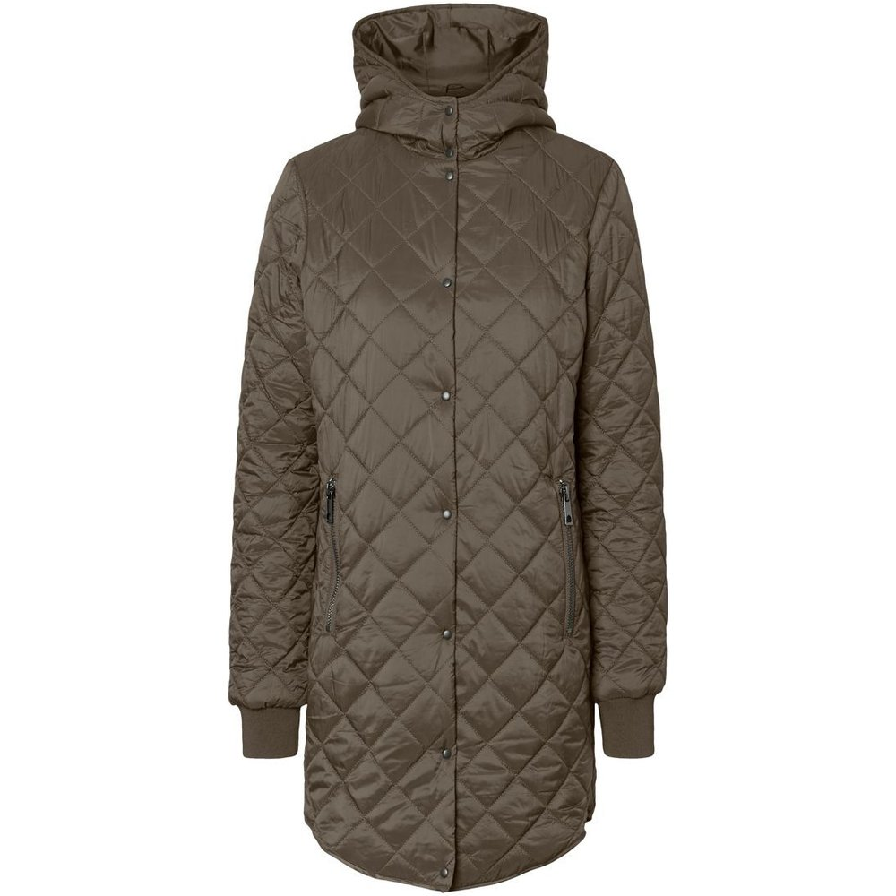 Artikel klicken und genauer betrachten! - - Quilted jacket with a hood. . Regular fit. . Soft material with padding and inner lining. . Press button closure. . Zip pockets. . Length: 86 cm in a size S. . The model is 177 cm tall and wears a size S.   Quilted jacket with hood, press button closure and zip pockets in the front. Wear the jacket with boots, when it gets colder outside. | im Online Shop kaufen