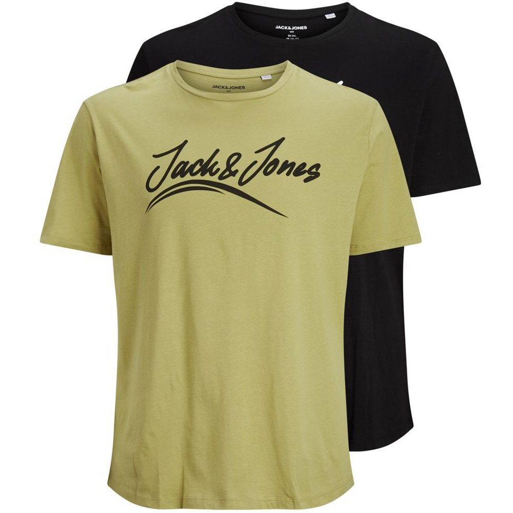 Lot De 2 Logo T-shirt En Grandes Tailles Men brown - jack & jones - Modalova