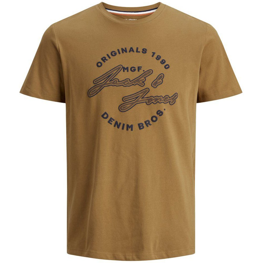 Graphique T-shirt En Grandes Tailles Men brown - jack & jones - Modalova