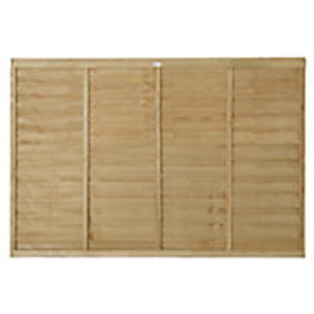 Forest Garden Pressure Treated Overlap Fence Panel - 6 x 4ft Pack of 5