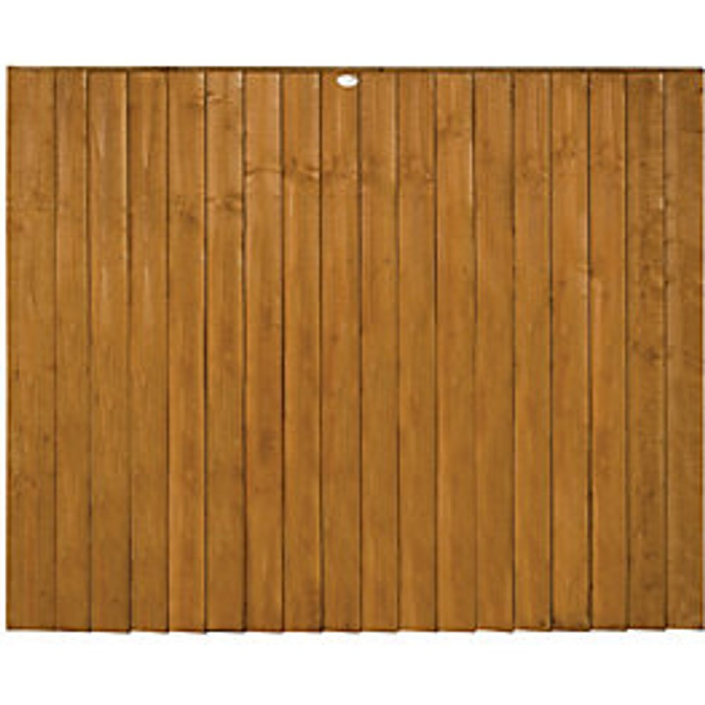 Forest Featheredge Fence Panel, Dip Treated, 5ft Pack of 5