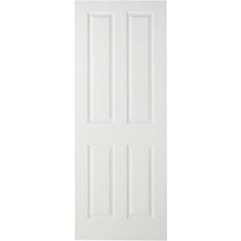 Wickes Stirling Internal Fire Door White Smooth Moulded 4 Panel 1981 x 762mm