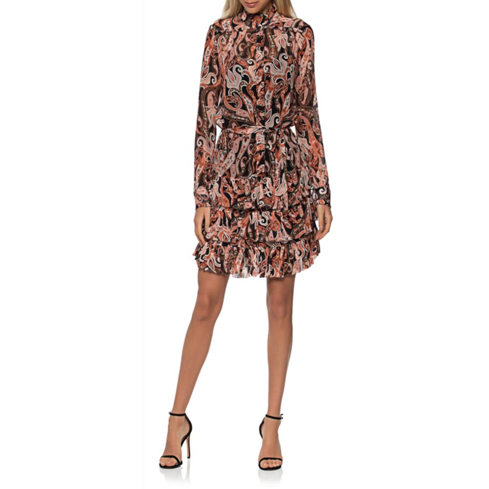Artikel klicken und genauer betrachten! - Paisley-Kleid mit Bindegürtel  | im Online Shop kaufen
