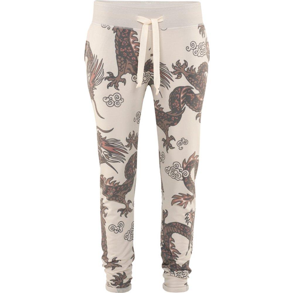 Artikel klicken und genauer betrachten! - Gemusterte Slim-Fit Sweatpants  | im Online Shop kaufen