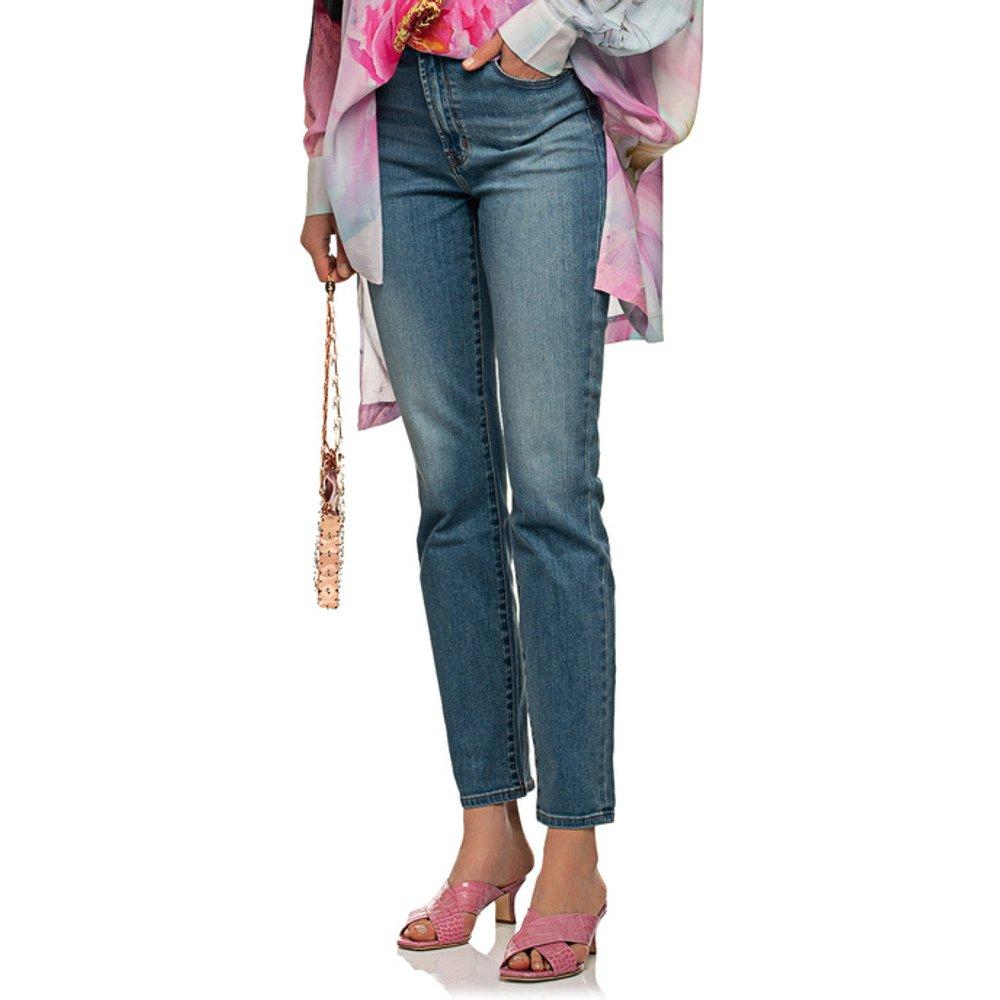 Artikel klicken und genauer betrachten! - High-Rise Straight-Leg Jeans  | im Online Shop kaufen