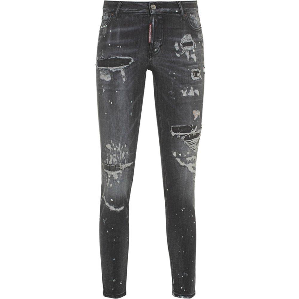 Artikel klicken und genauer betrachten! - Destroyed Cropped Skinny-Jeans   | im Online Shop kaufen