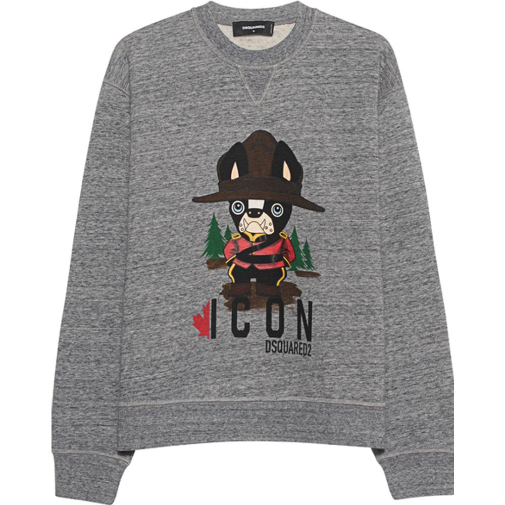 Artikel klicken und genauer betrachten! - Bedrucktes Oversize Sweatshirt  | im Online Shop kaufen