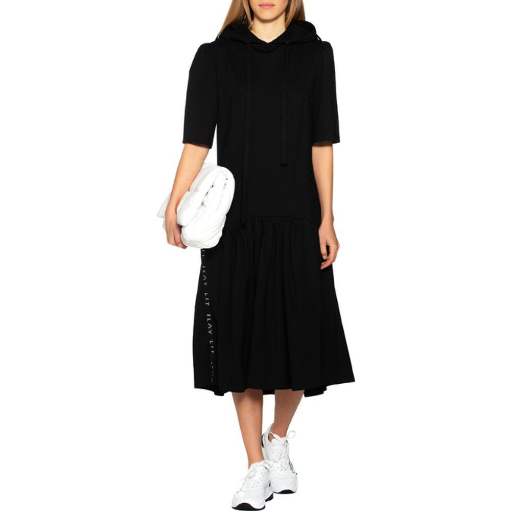 Artikel klicken und genauer betrachten! - Kurzarm-Kleid mit Kapuze Sie lieben es chic und lässig zugleich? Dann ist das ultimativ coole Hoodie-Kleid von Ilay Lit genau das Richtige für Sie! Das heiß begehrte Must-Have beeindruckt mit der label-chrakteristischen XXL-Kapuze, sportiven Wordings, erstklassigem Tragekomfort, sowie exzellenter Verarbeitung. | im Online Shop kaufen