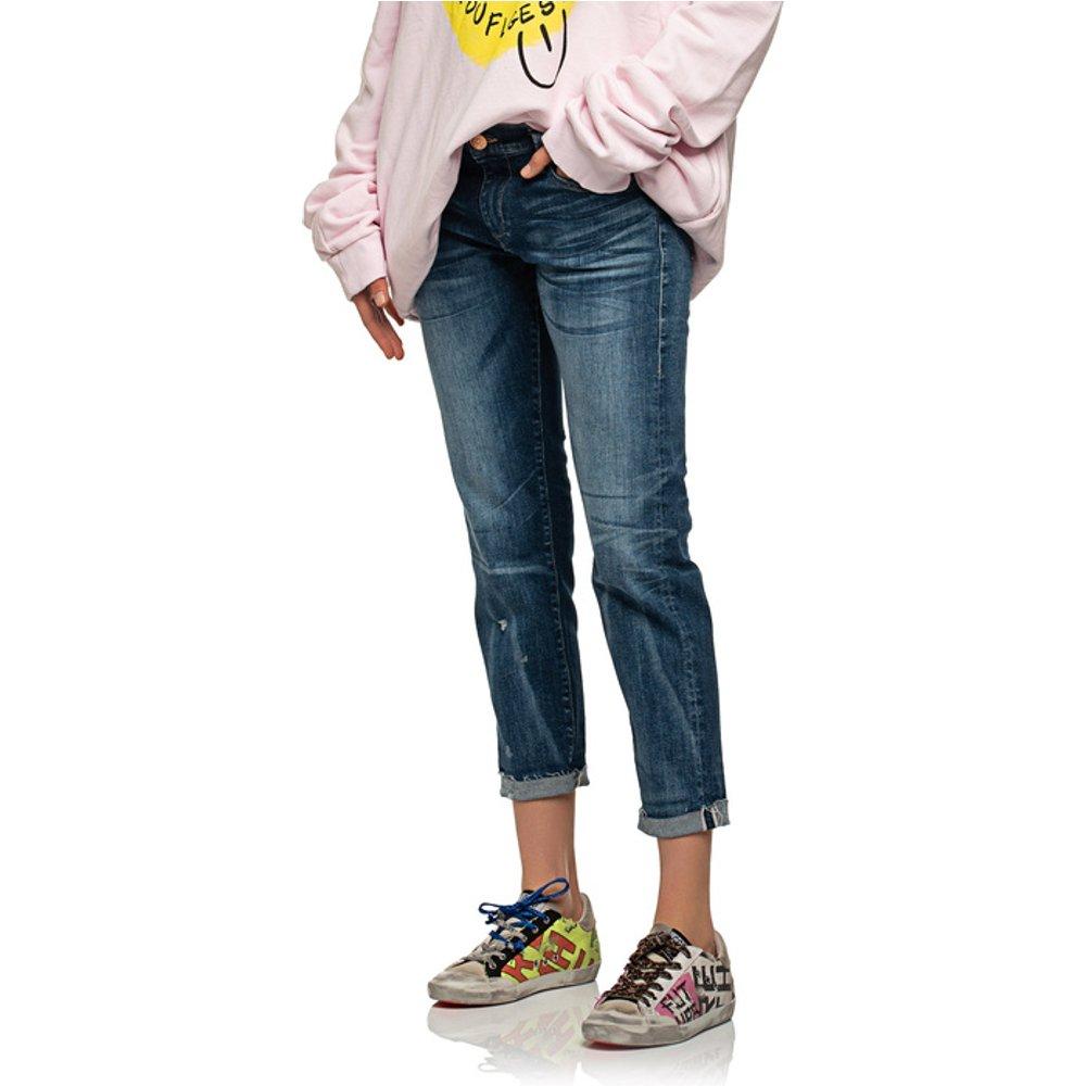 Artikel klicken und genauer betrachten! - Washed-Out Boyfriend-Jeans  | im Online Shop kaufen