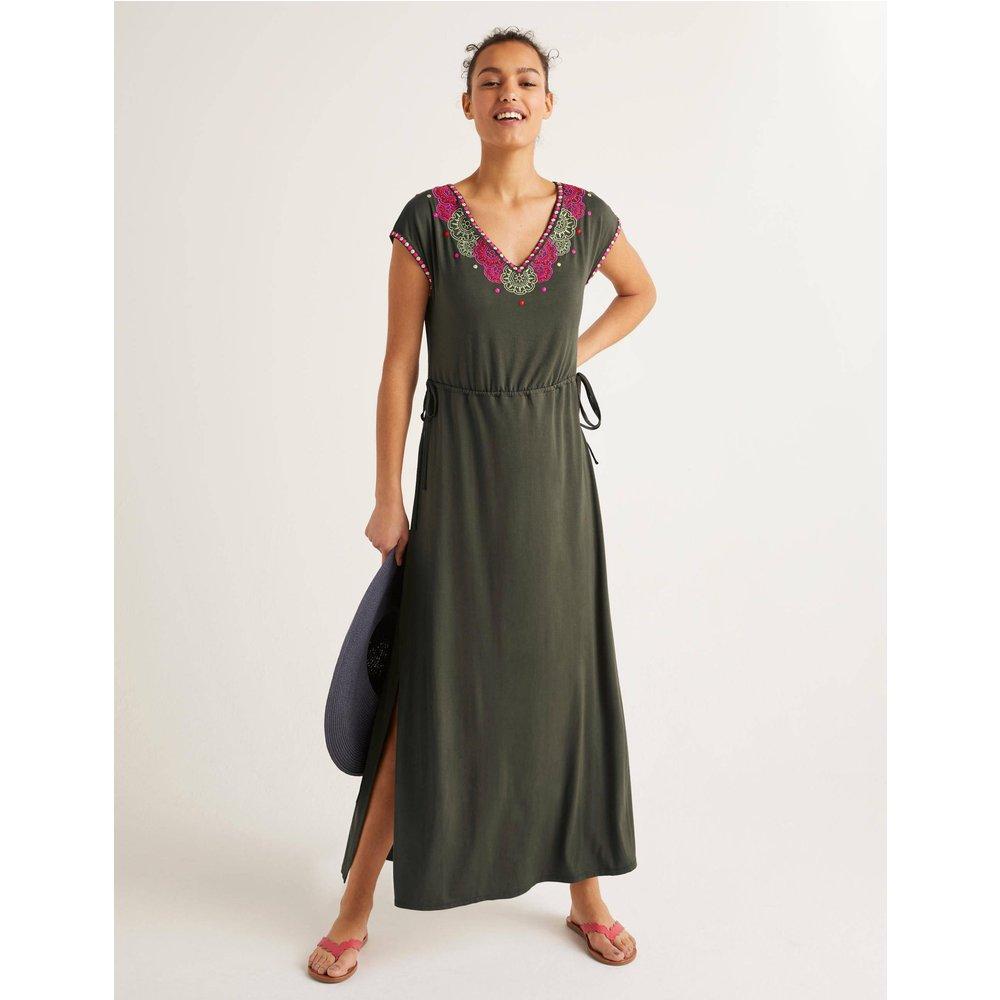 Robe longue Marcia brodée KHK  - Boden - Modalova