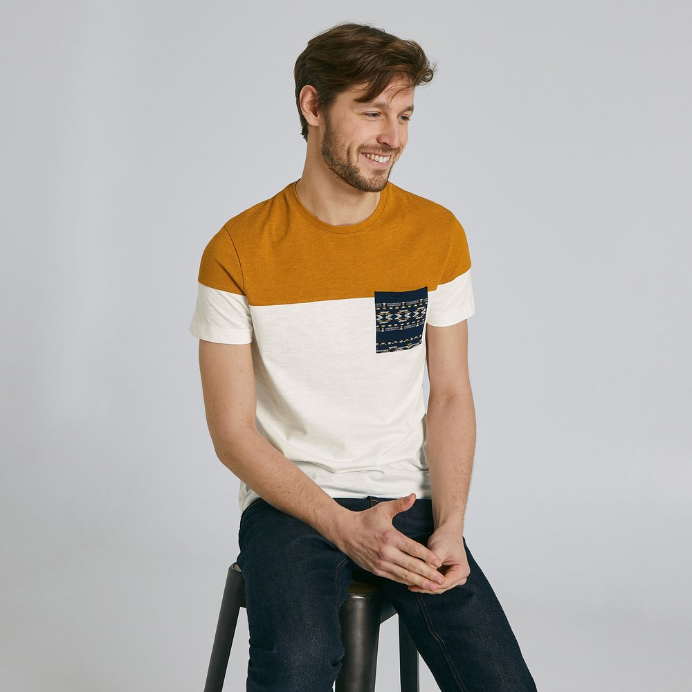 Tee shirt colorblock poche imprimée / - Brice - Modalova