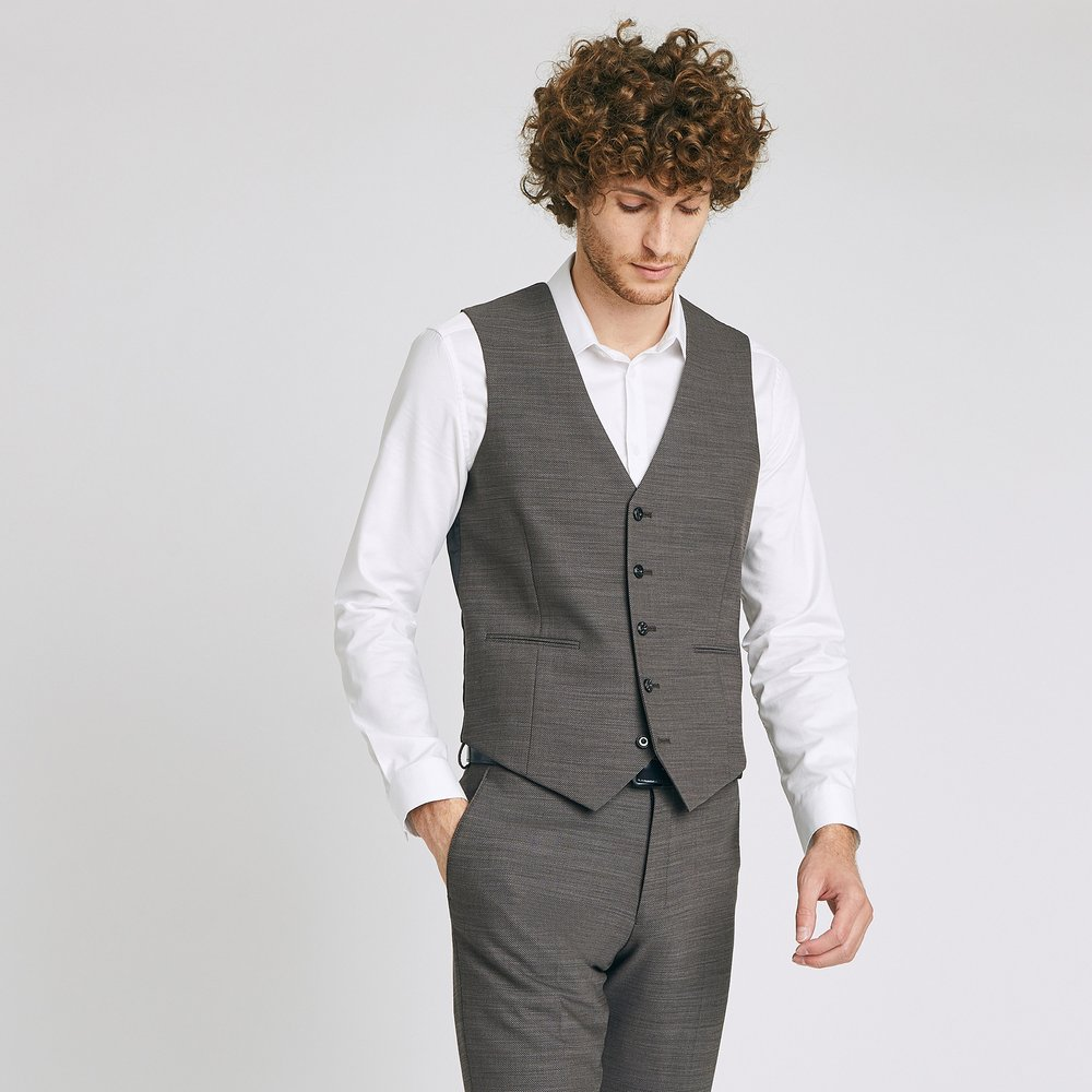 Gilet de costume matière texturée - Brice - Modalova