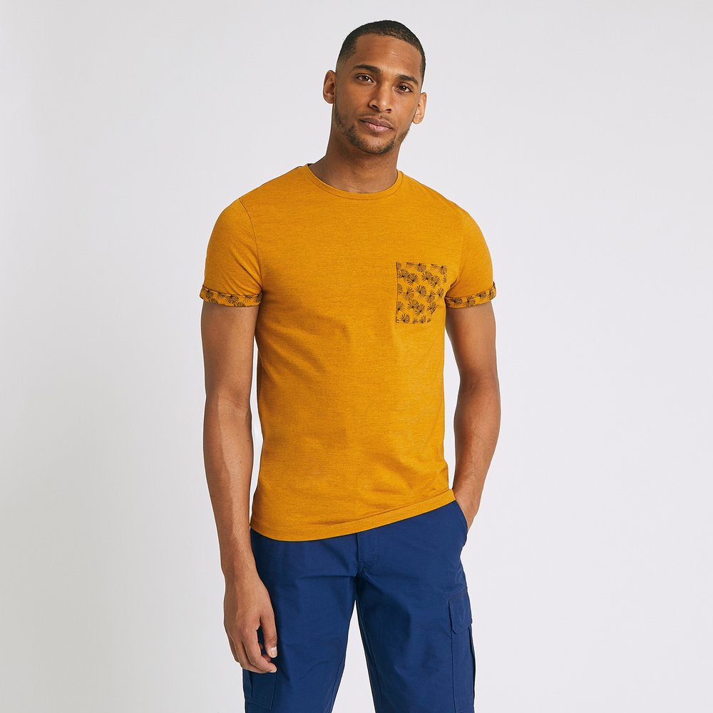 Tee shirt col rond à poche feuillages / - Brice - Modalova