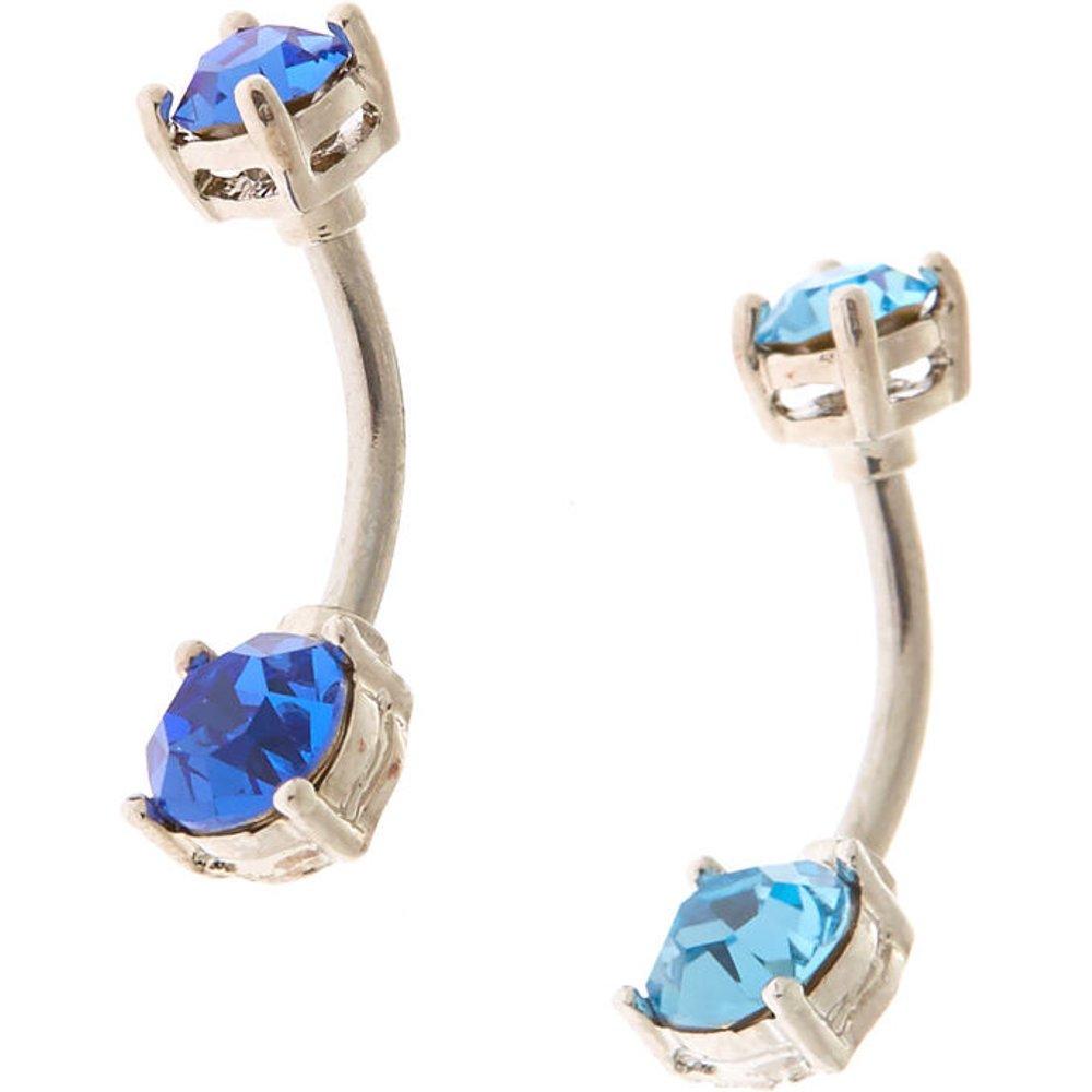 Lot de 2 piercings de nombril en zircon cubique d'imitation couleur océan couleur - Claire's - Modalova