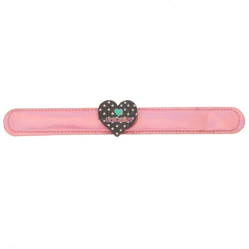 Bracelet enrouleur cœur et licorne holographique - Claire's - Modalova