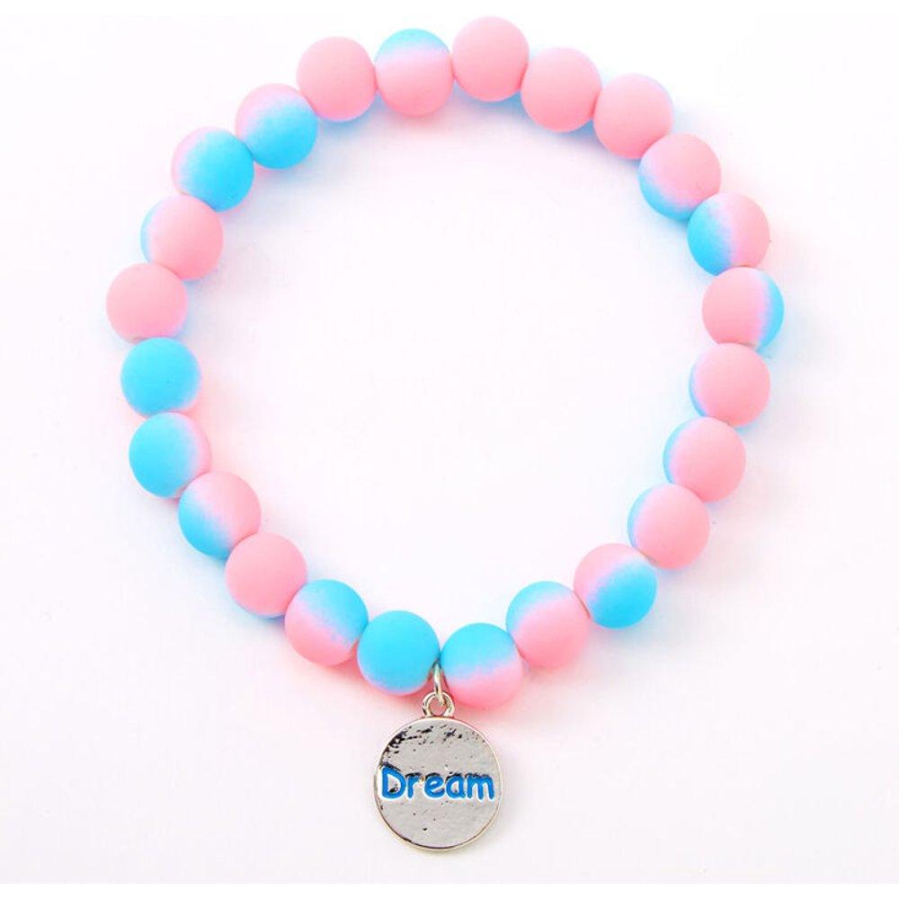 Bracelet élastique perlé mat « Dream » effet dégradé - Claire's - Modalova