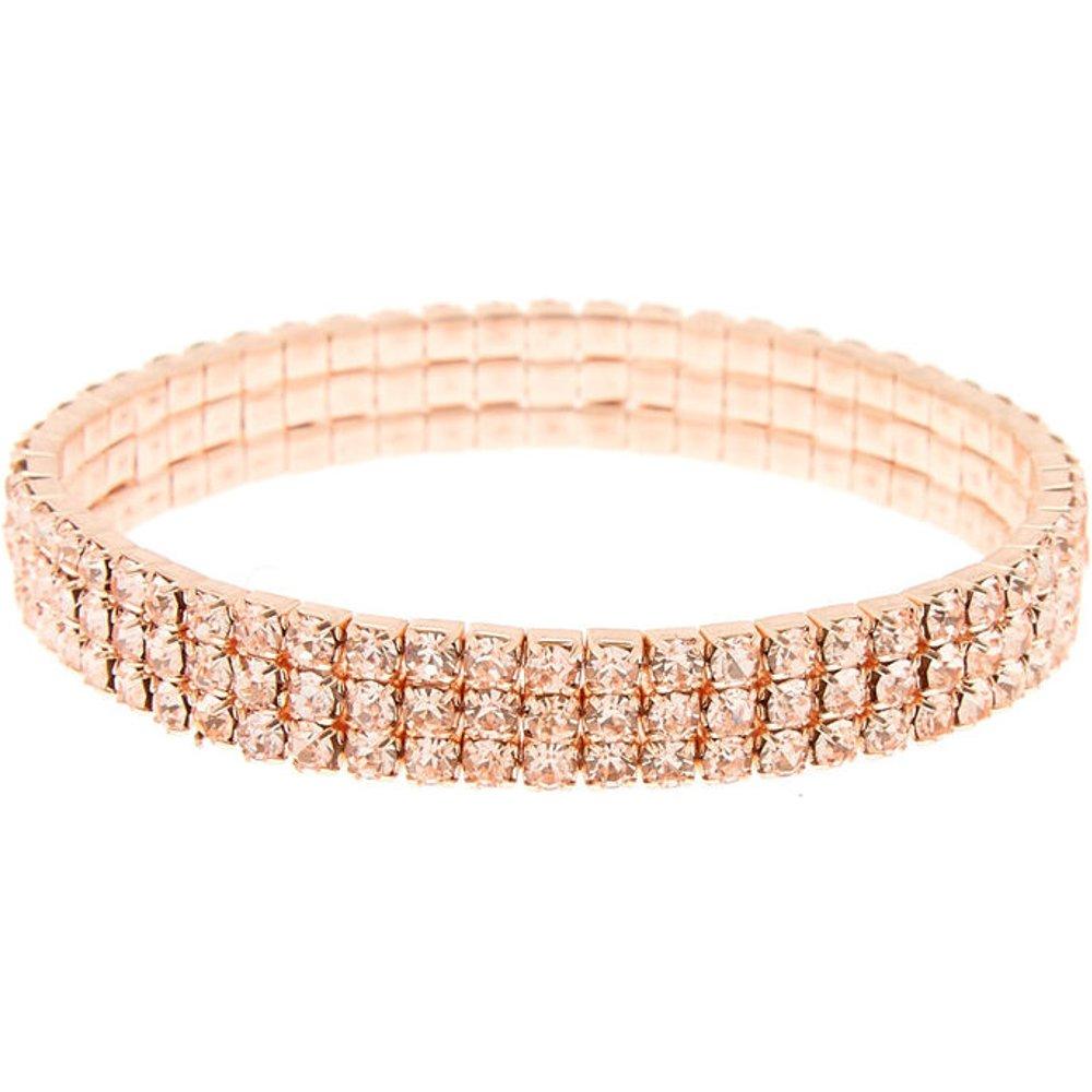 Bracelet élastique avec strass couleur doré - Claire's - Modalova
