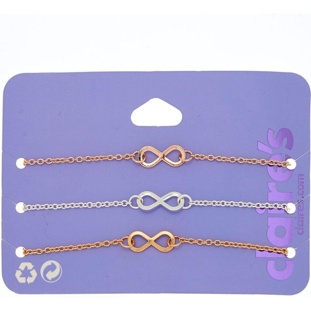 Bracelet tendance symbole de l'infini en métaux mixtes - Claire's - Modalova
