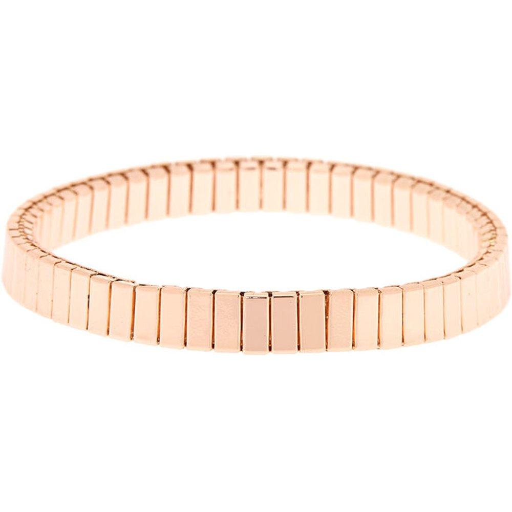 Bracelet élastique à maillons couleur doré - Claire's - Modalova