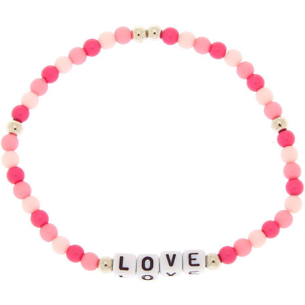 Bracelet élastique perlé « Love » - Claire's - Modalova