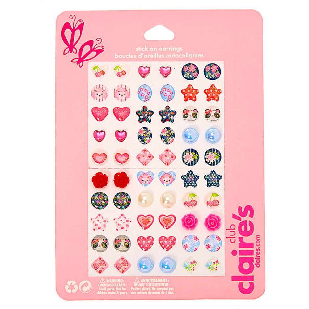 Boucles d'oreilles autocollantes Girly Girl Club - Lot de 30 - Claire's - Modalova