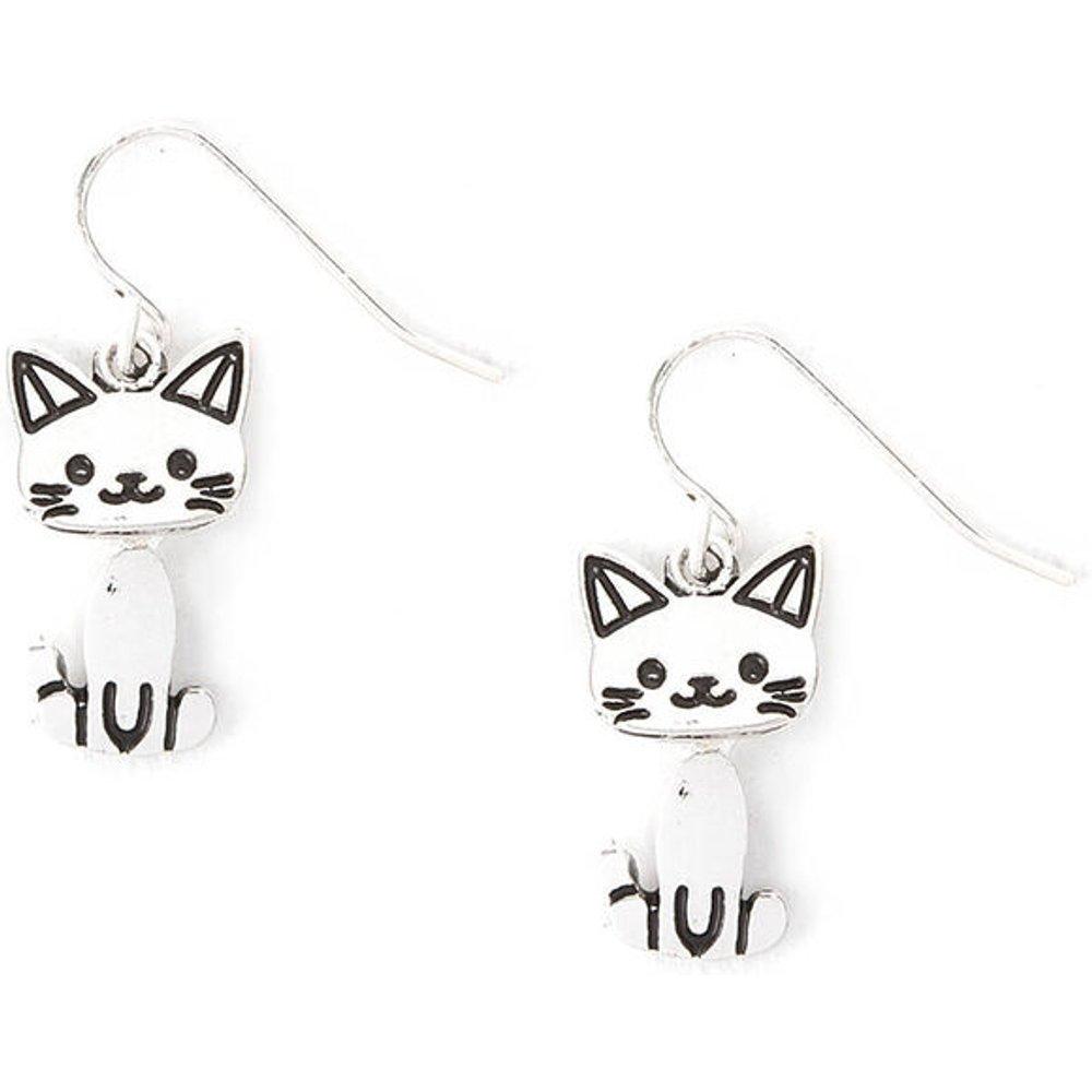 Boucles d'oreilles pendantes chat couleur argenté - Claire's - Modalova