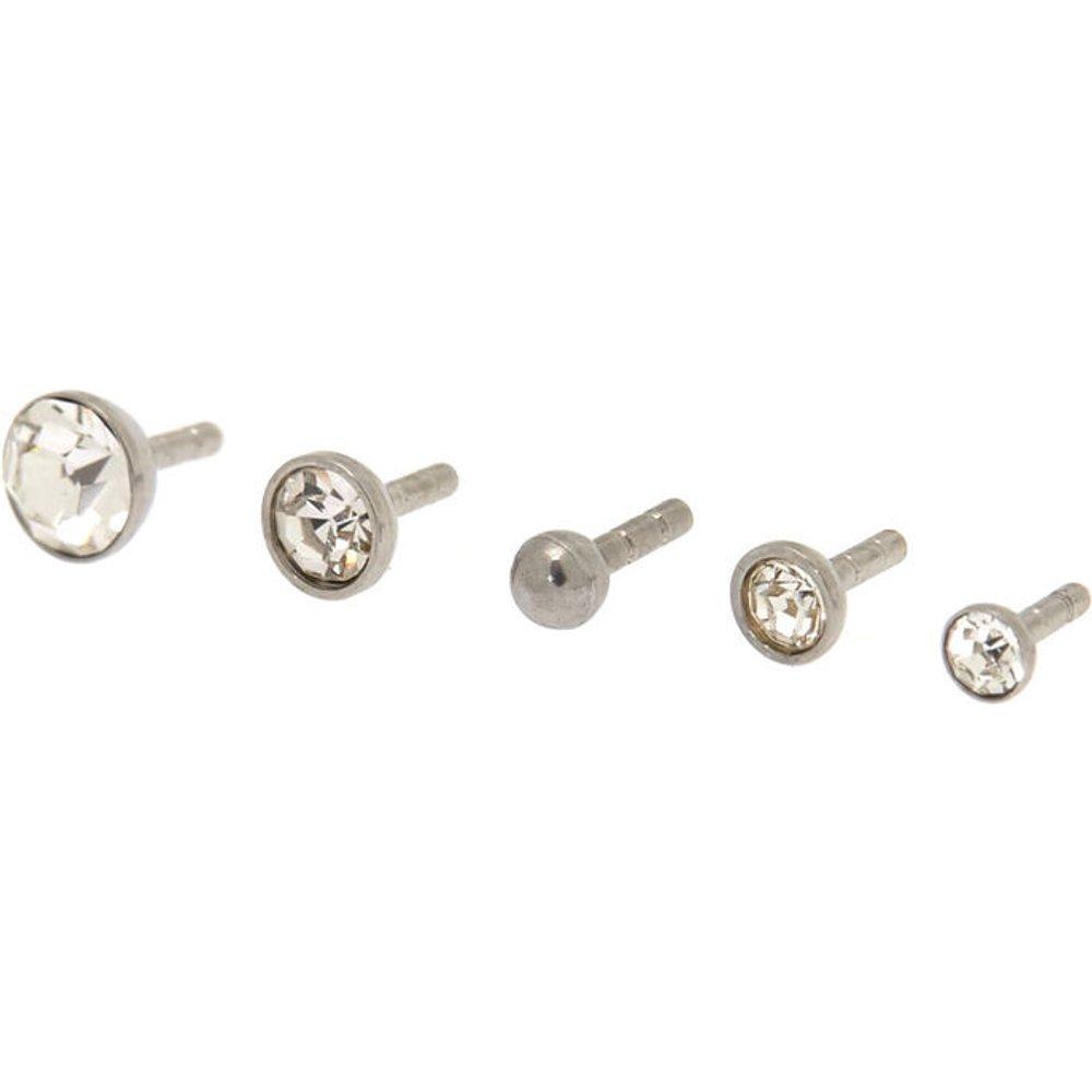Lot de 5 clous pour piercing labret avec différents tops 1,2mm couleur - Claire's - Modalova