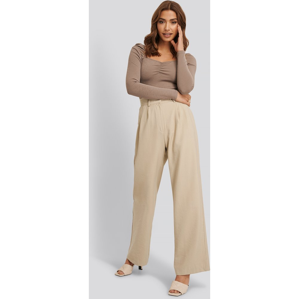 Pantalon De Costume - Beige - Buonalima x NA-KD - Modalova