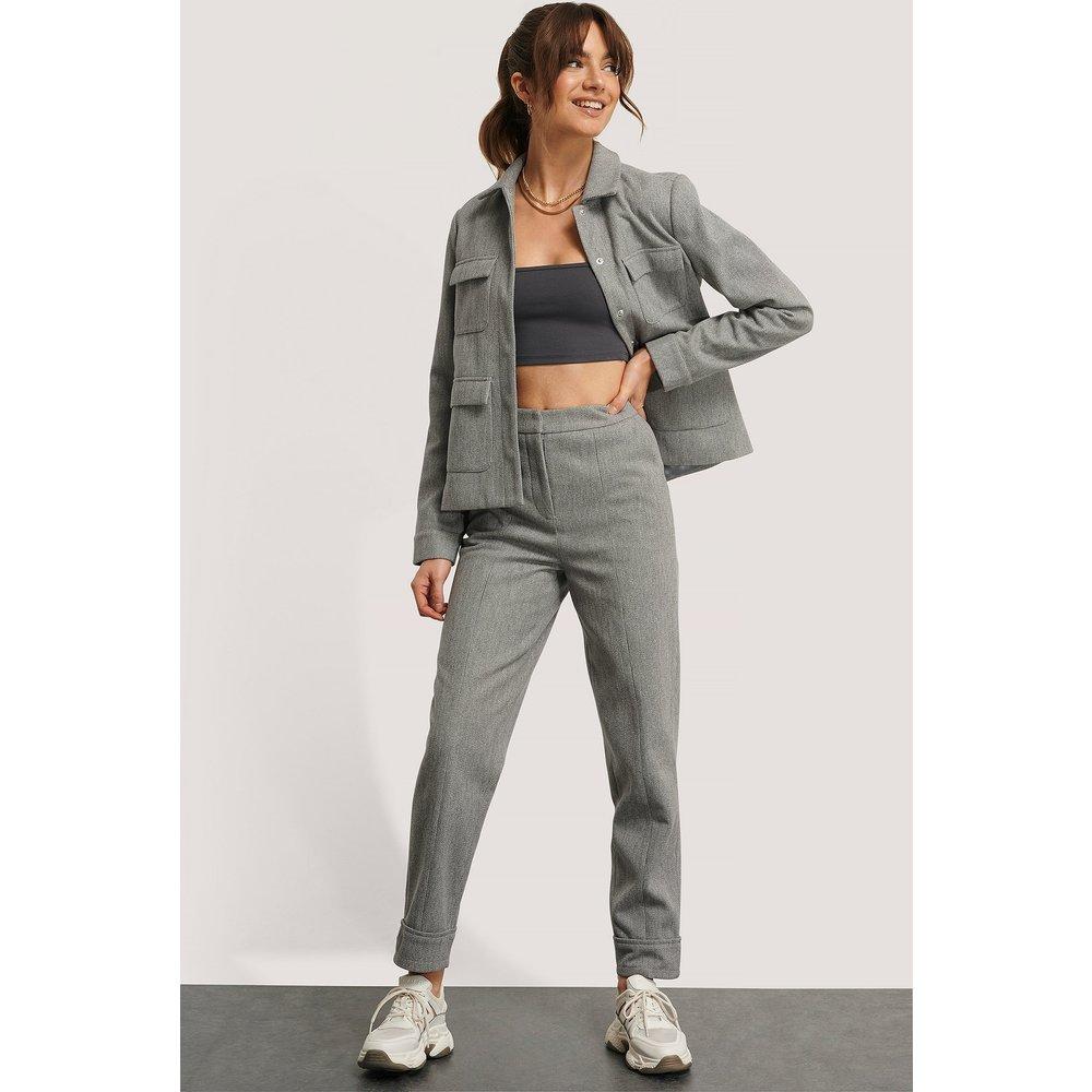 Pantalon De Costume - Grey - Monica Geuze x NA-KD - Modalova
