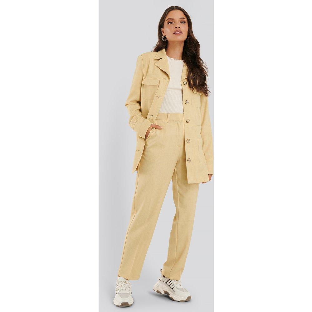 Pantalon De Costume - Yellow - NA-KD Classic - Modalova