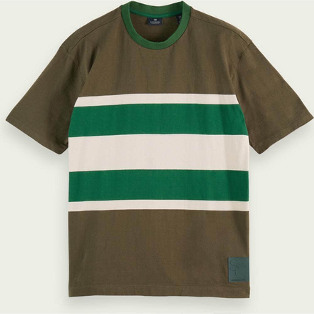 T-shirt rayé à manches courtes 100% coton - Scotch & Soda - Modalova