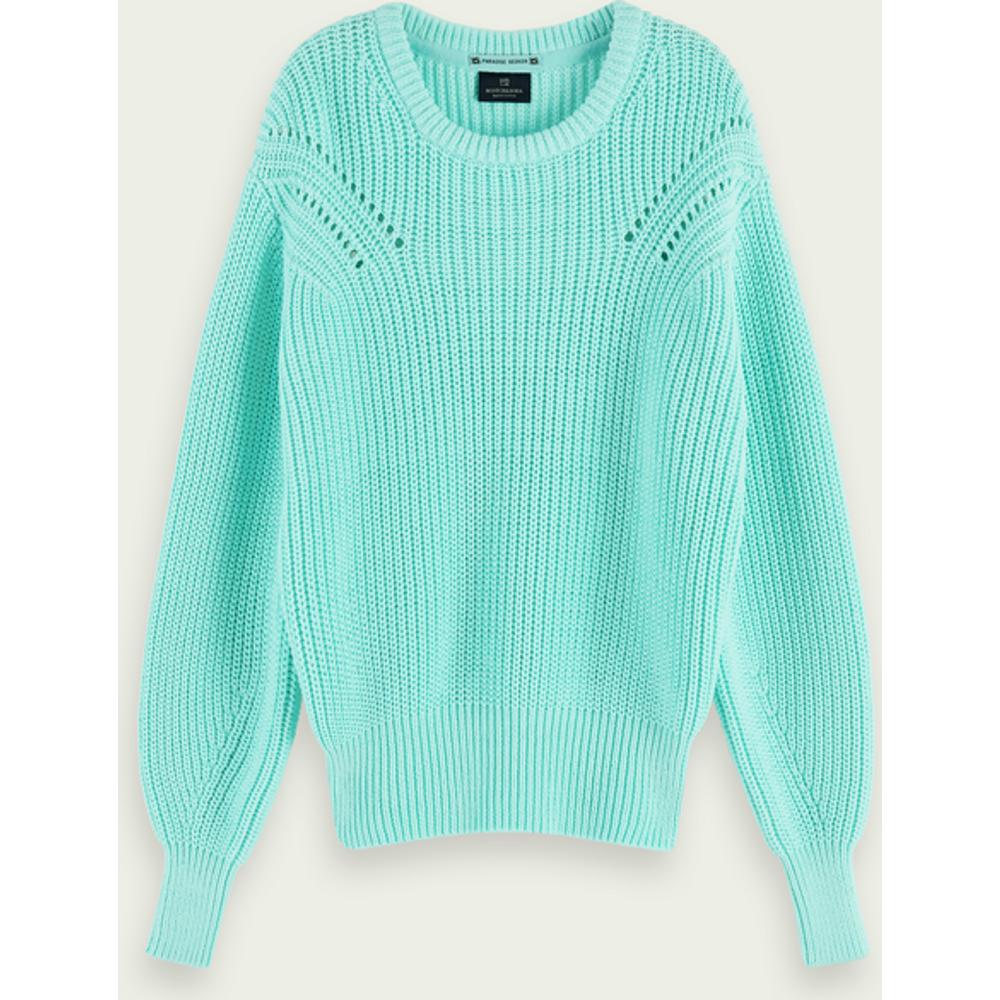 Sweat-shirt en tricot épais à manches longues en mélange de coton - Scotch & Soda - Modalova