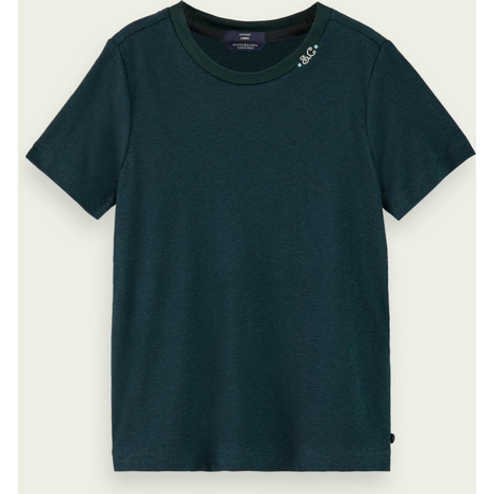 T-shirt à manches courtes en mélange de lin durable - Scotch & Soda - Modalova