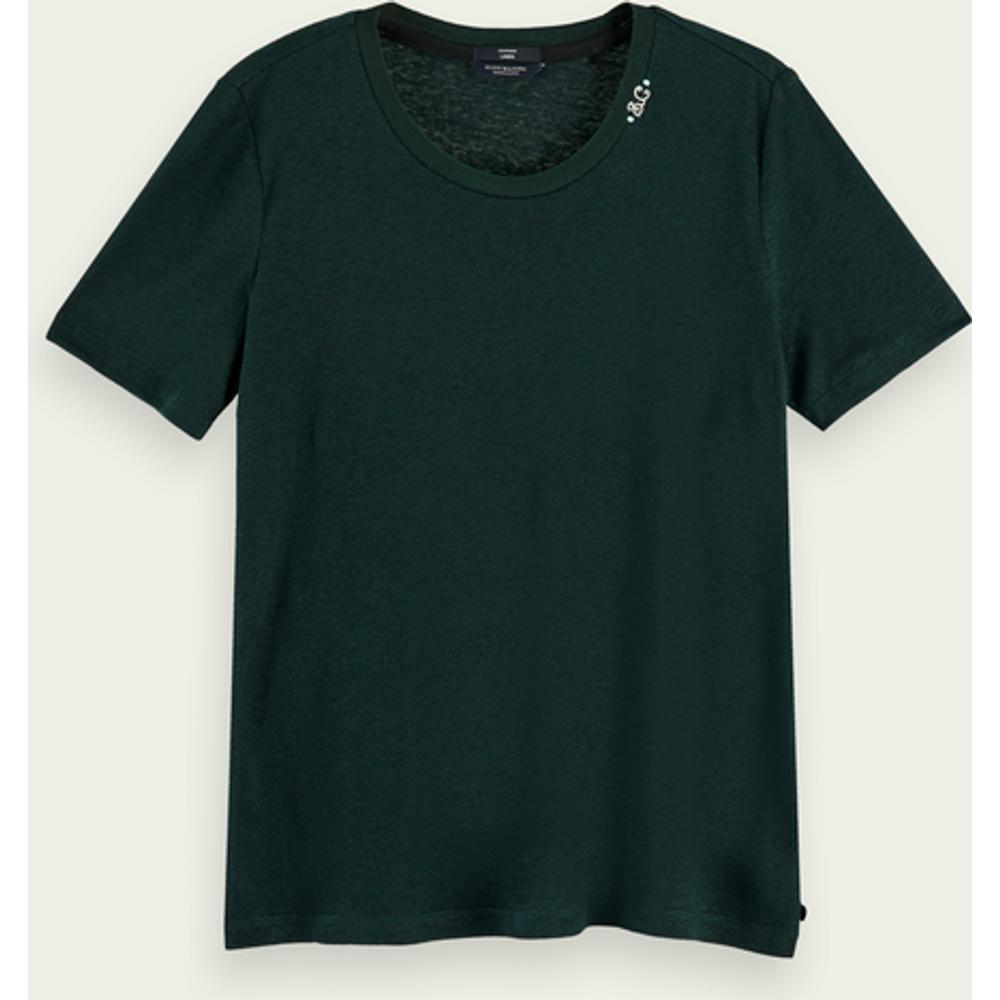 T-shirt léger en mélange de lin - Scotch & Soda - Modalova