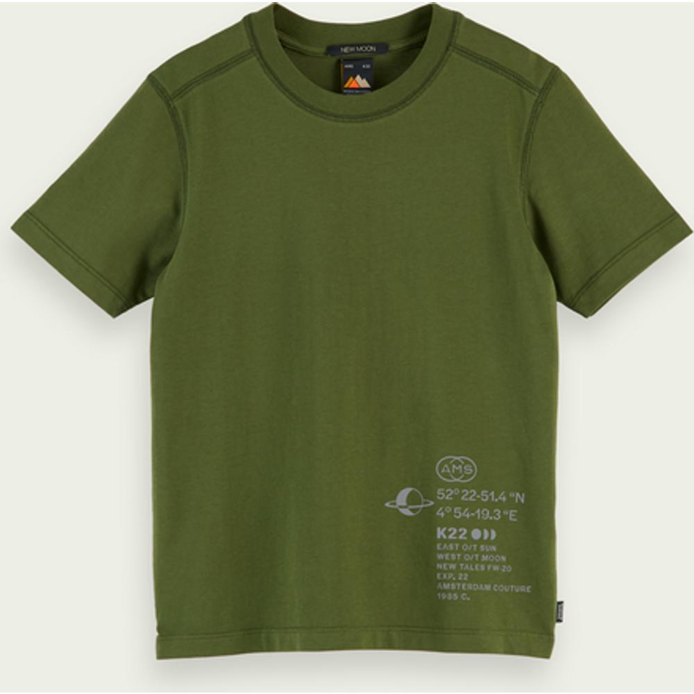 T-shirt à manches courtes avec graphisme en coton bio - Scotch & Soda - Modalova