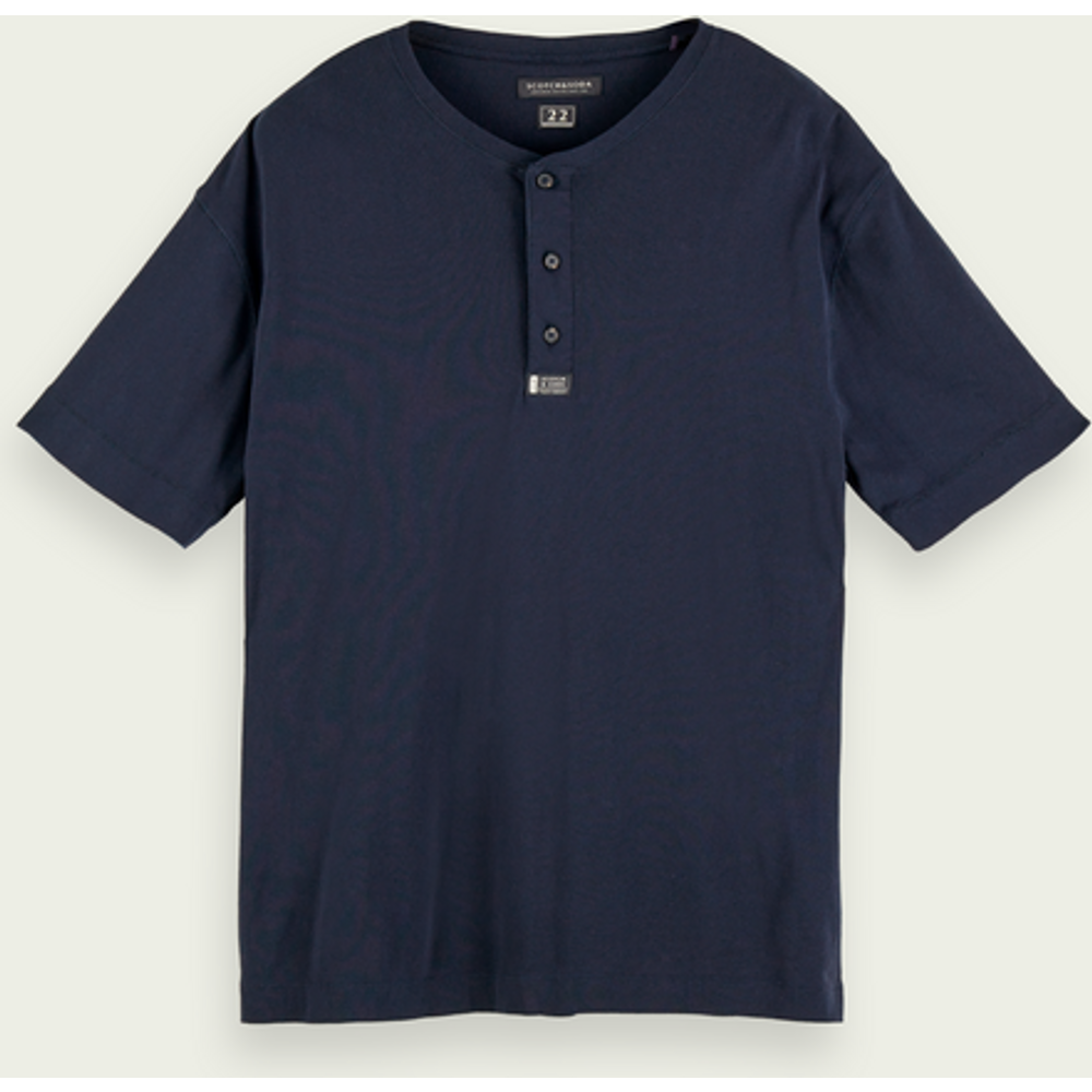 Cotton short sleeve grandad t-shirt - Scotch & Soda - Modalova