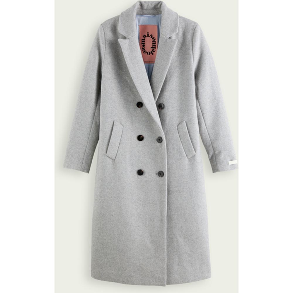 Manteau ajusté à double boutonnage en mélange de laine - Scotch & Soda - Modalova