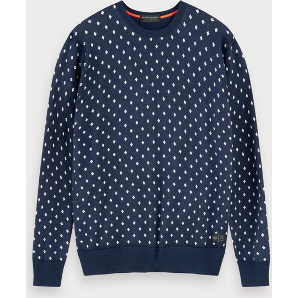 Sweat-shirt ras du cou imprimé - Scotch & Soda - Modalova