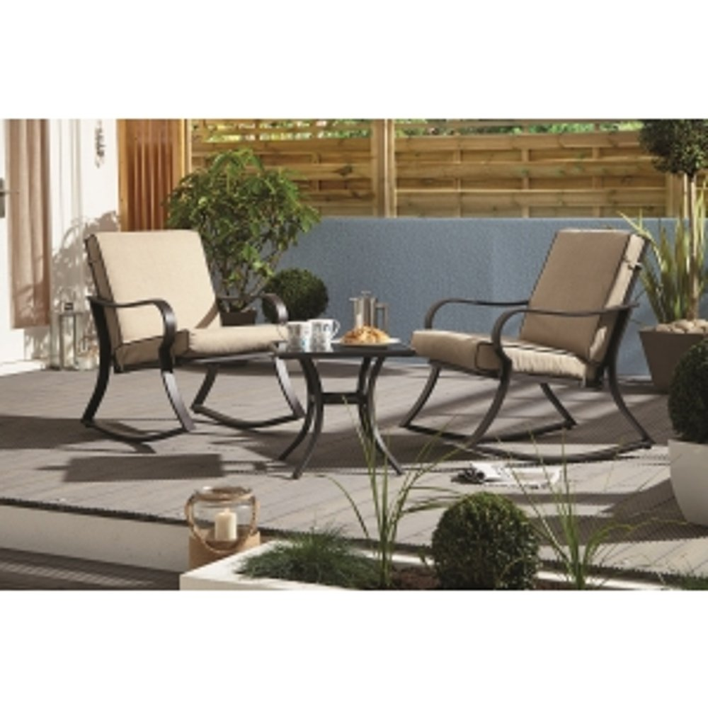 Nevada Rocking Bistro Set - Beige
